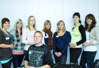 Auszubildende des Carl-Thiem-Klinikums bei ihrem Knigge-Tag